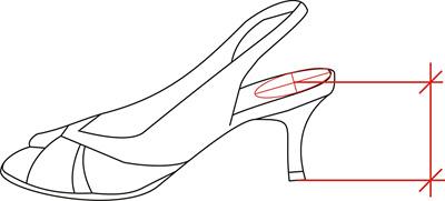 Jak měříme výšku podpatku u obuvi   c72f33e64d