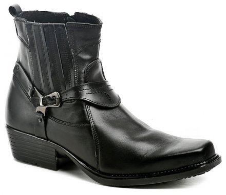 Koma 1025 černé pánské westernové boty 662e50b130