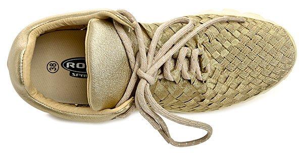 dbfaca81b3a Rock Spring ORLANDERO zlatá dámská letní obuv