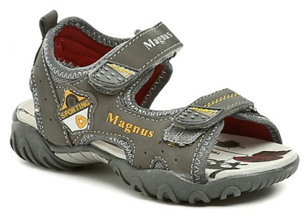 Magnus 45-0181-S1 šedá dětské sandálky 221a69c7d8