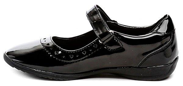 2b40b8395ed Sprox 293401 černé dívčí balerínky. Dětská celoroční vycházková i  společenská obuv ...