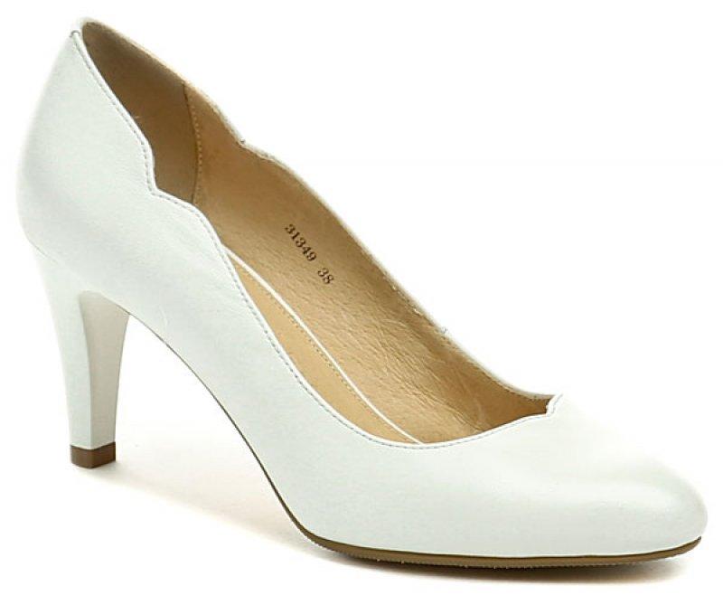 c28bea90effc Deska 31349 bílá dámská svatební obuv