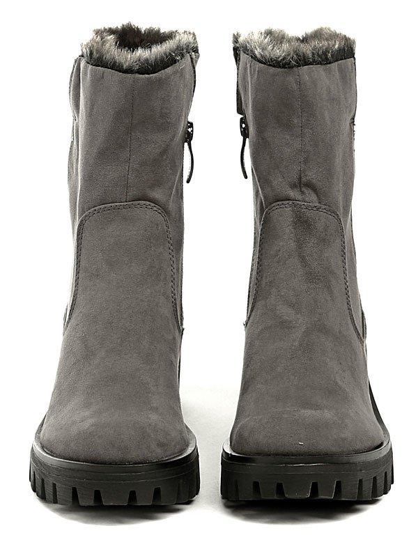 438ad870087 Tamaris 1-25405-29 šedé dámské zimní boty