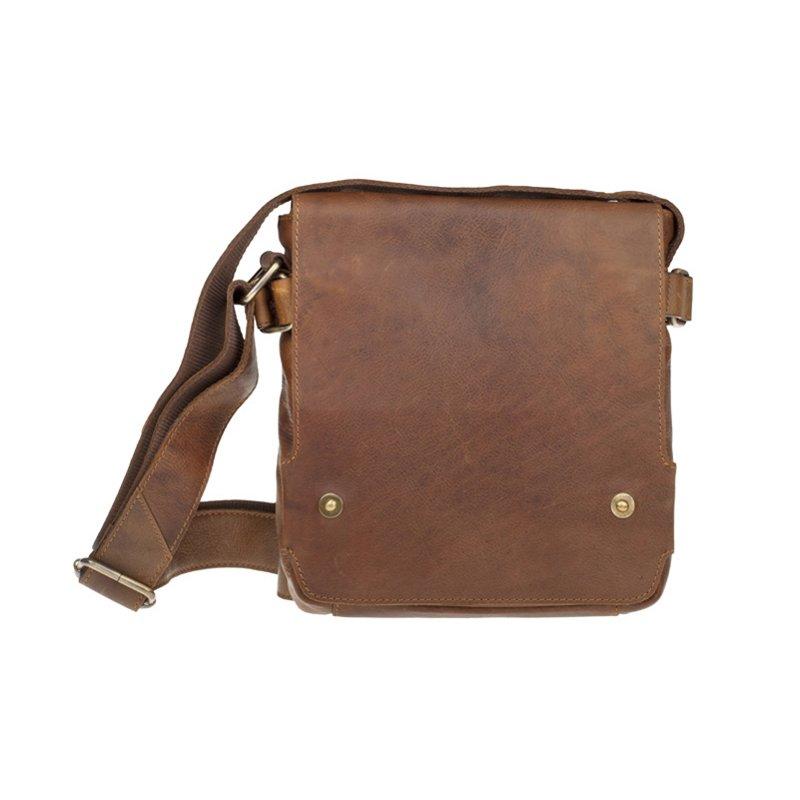 Lagen 3008-V černá kožená taška přes rameno