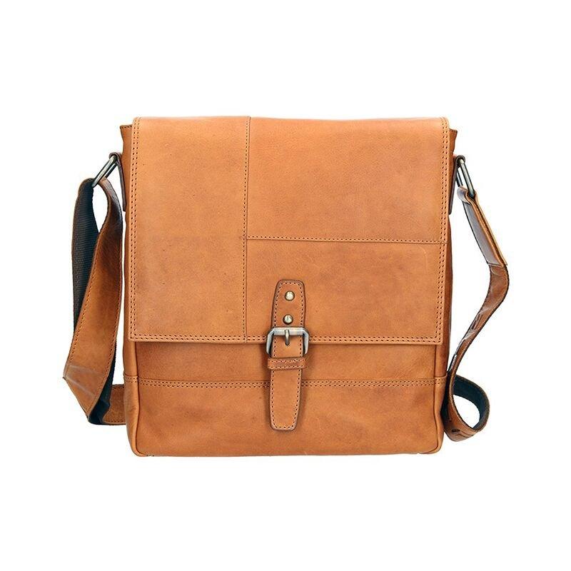 Lagen 2040-V béžová kožená taška přes rameno