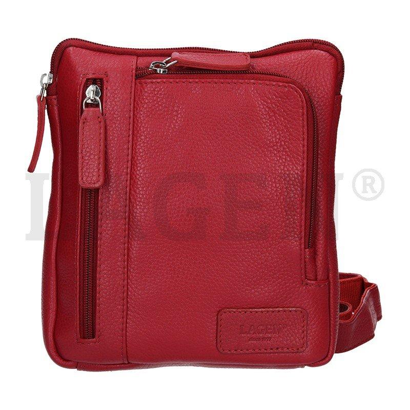 Lagen CB-003 červená dámská kožená kabelka