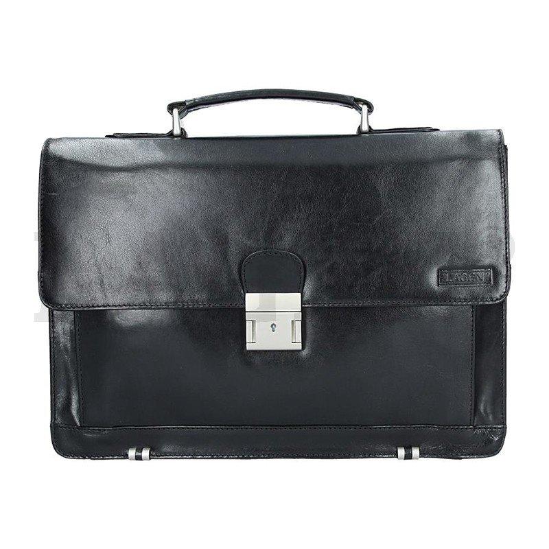 Lagen 2079-T černá kožená aktovka
