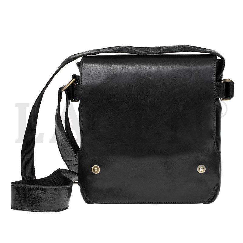 Lagen 3008-T černá kožená taška přes rameno