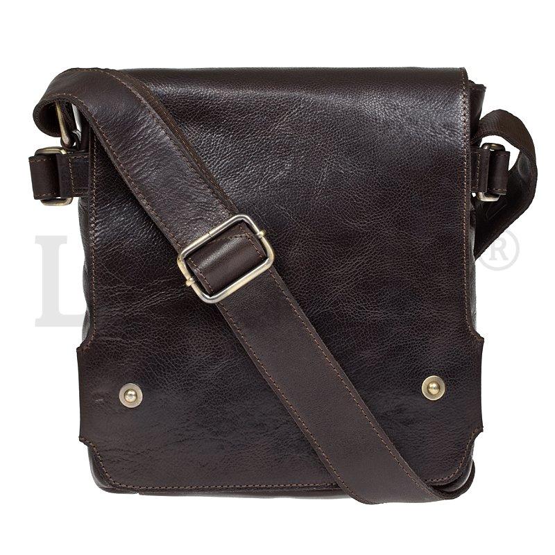 Lagen 3008-C hnědá kožená taška přes rameno