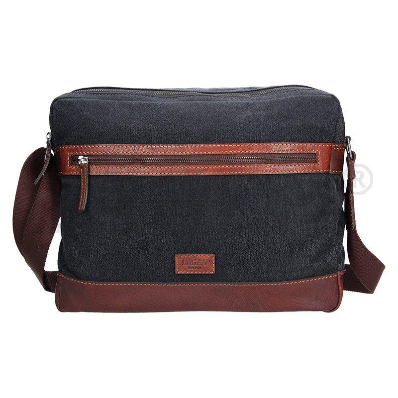 Lagen 22406 černo hnědá taška přes rameno