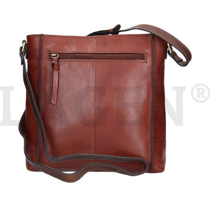 6a0bb36592 Lagen 23308 hnědá dámská kožená kabelka