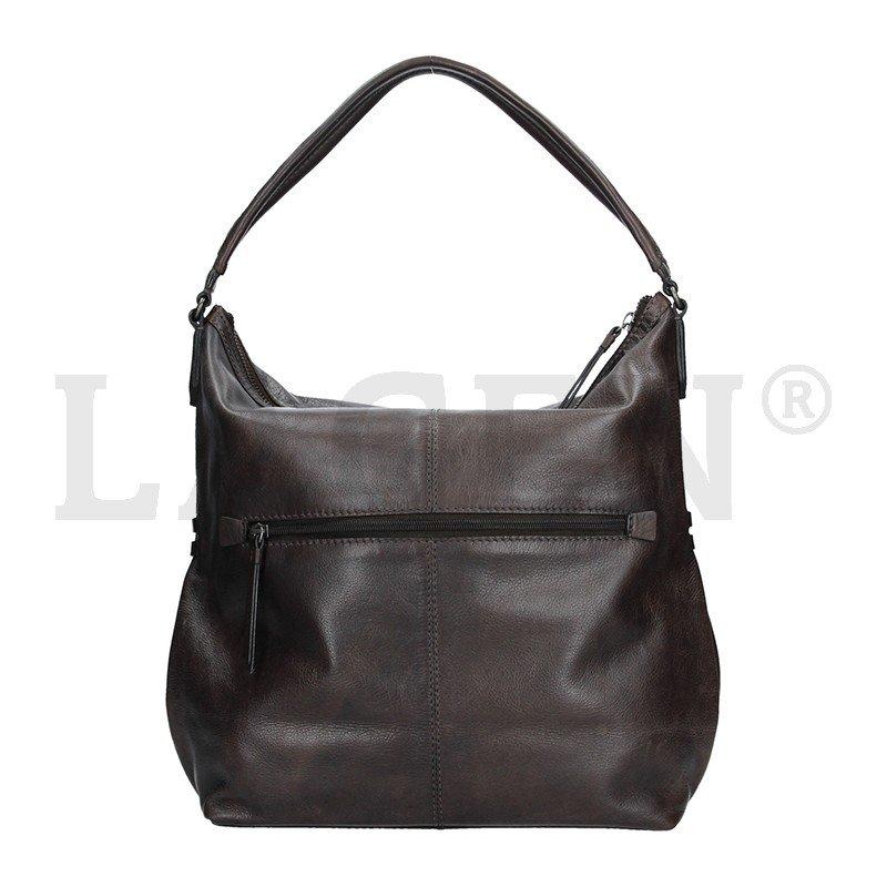 Lagen 23309 šedá dámská kožená kabelka