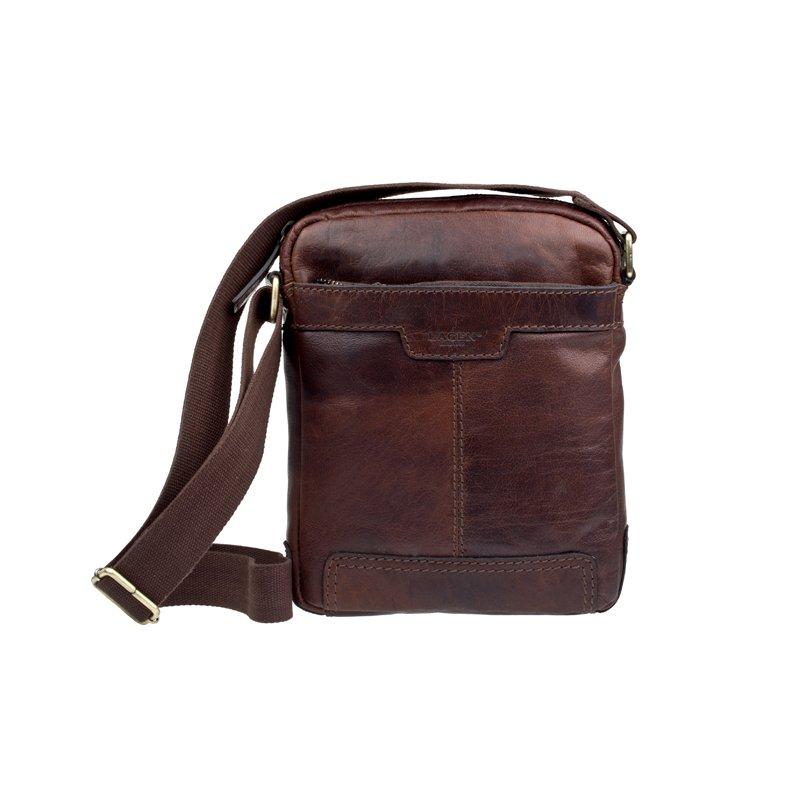 Lagen LN 20654 hnědá kožená taška přes rameno