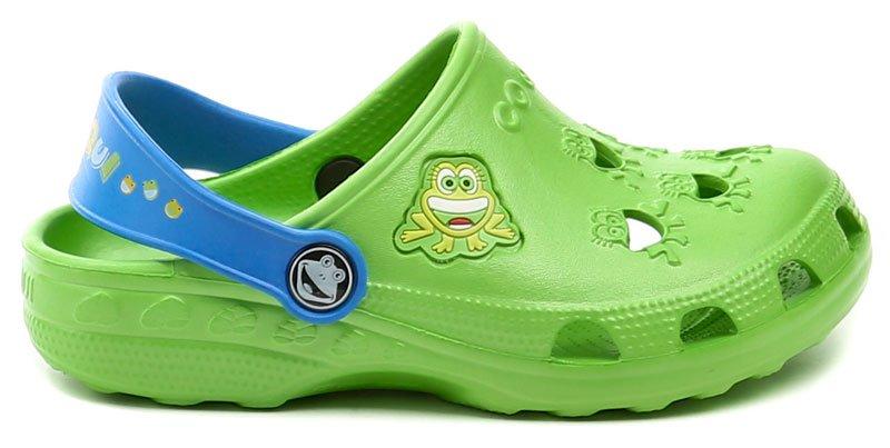 4b67bd794ee2 Coqui 8701 zelené dětské nazouváky crocsy