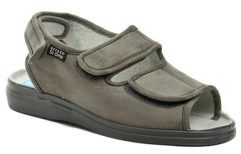 Dr. Orto 733M006 šedé pánské nadměrné zdravotní sandály EUR 48