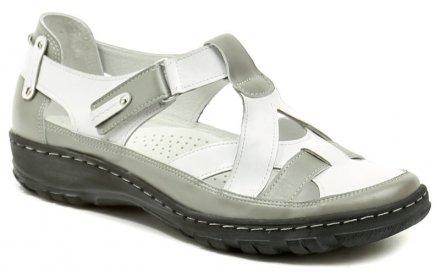 Mintaka 8116224-2 bílo šedé dámské letní polobotky 4ebe13ab6d