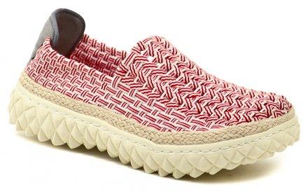 e270ffb24c9 Rock Spring ZIGGY Red Stripe červená dámská gumičková obuv