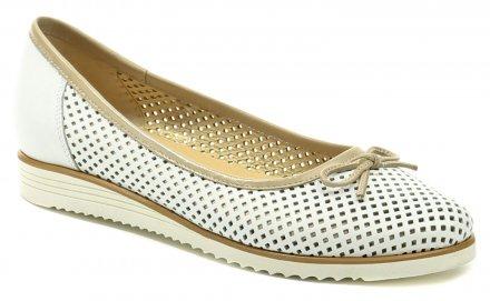 88121d329f5 De plus 9763-K bílo béžová dámská nadměrná obuv