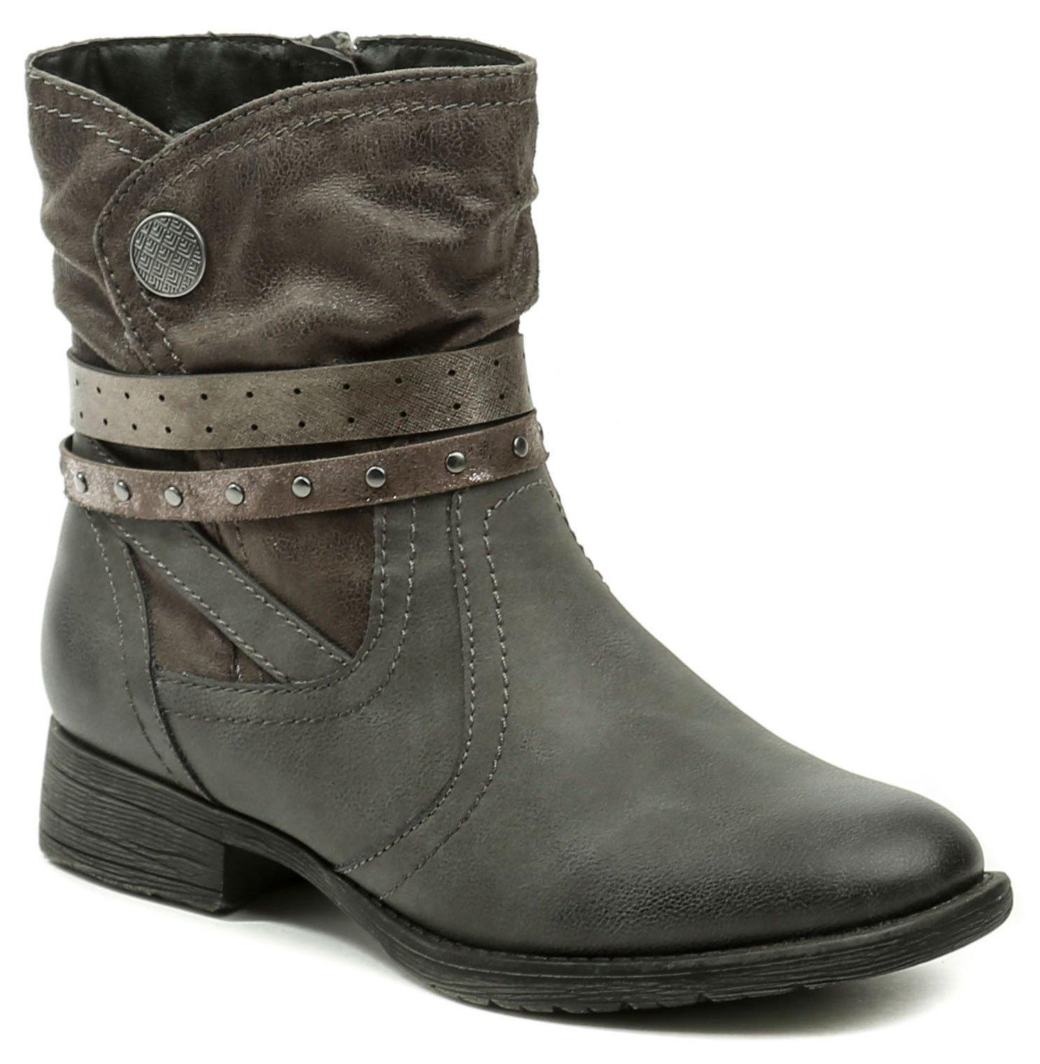 Jana 8-25465-21 šedé dámské zimní boty šíře H  377195a750f