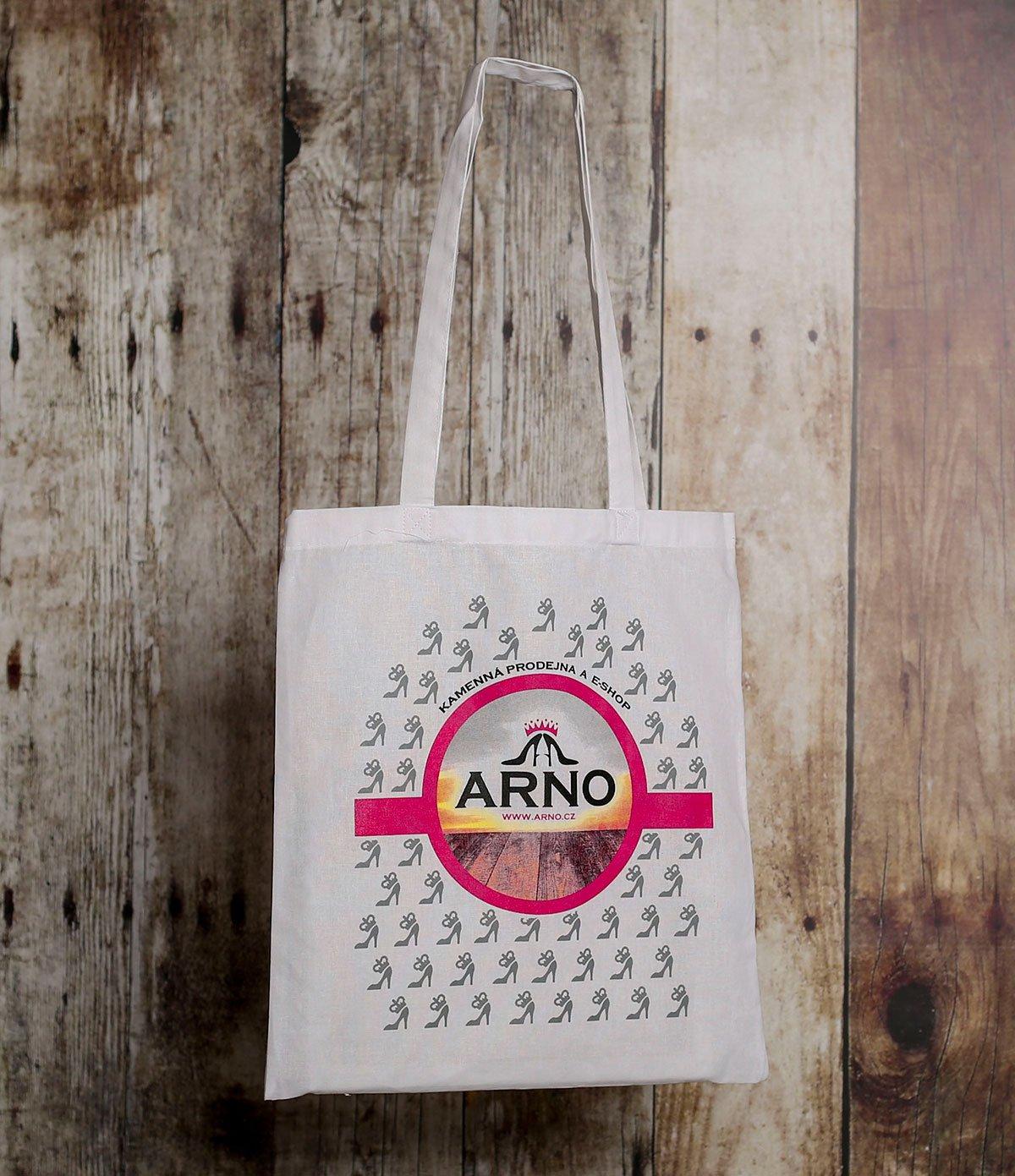 ARNO bílá ekologická nákupní taška