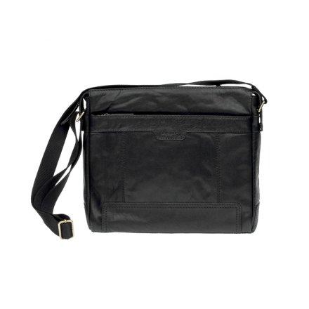 Lagen LN 20653 černá kožená taška přes rameno 4308fa1b30c