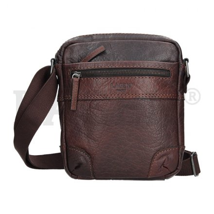 Lagen 22403 tmavě hnědá kožená taška přes rameno 45be06bb386
