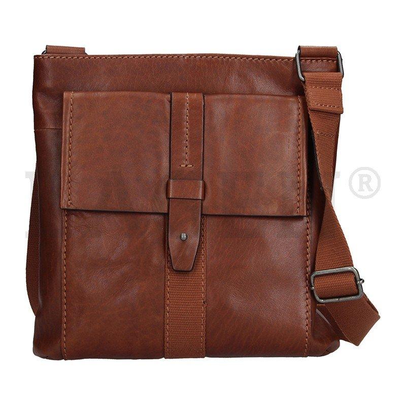 Lagen 22421 hnedá kožená taška cez rameno