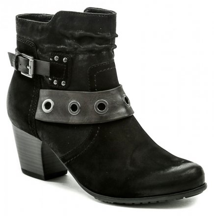1d7ef78620c Jana 8-25330-21 černá dámská kotníčková obuv šíře H