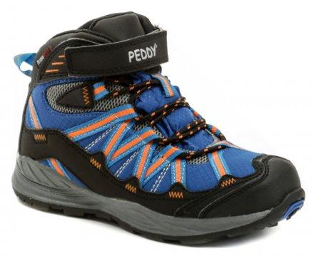 51940574e92 Peddy PV-509-27-03 modro oranžové kotníčkové zimní boty