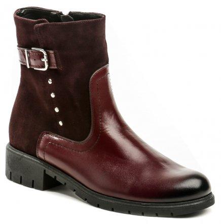 De plus 9748 bordó dámské nadměrné kotníčkové boty šíře H 7780ce28e3
