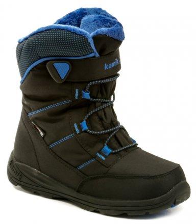 KAMIK Stance černo modrá dětská zimní kotníčková obuv d3d0fe8f094
