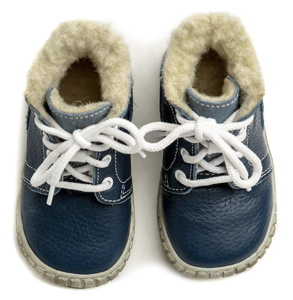 ce53c57817f Pegres 1700 modrá dětská zimní obuv