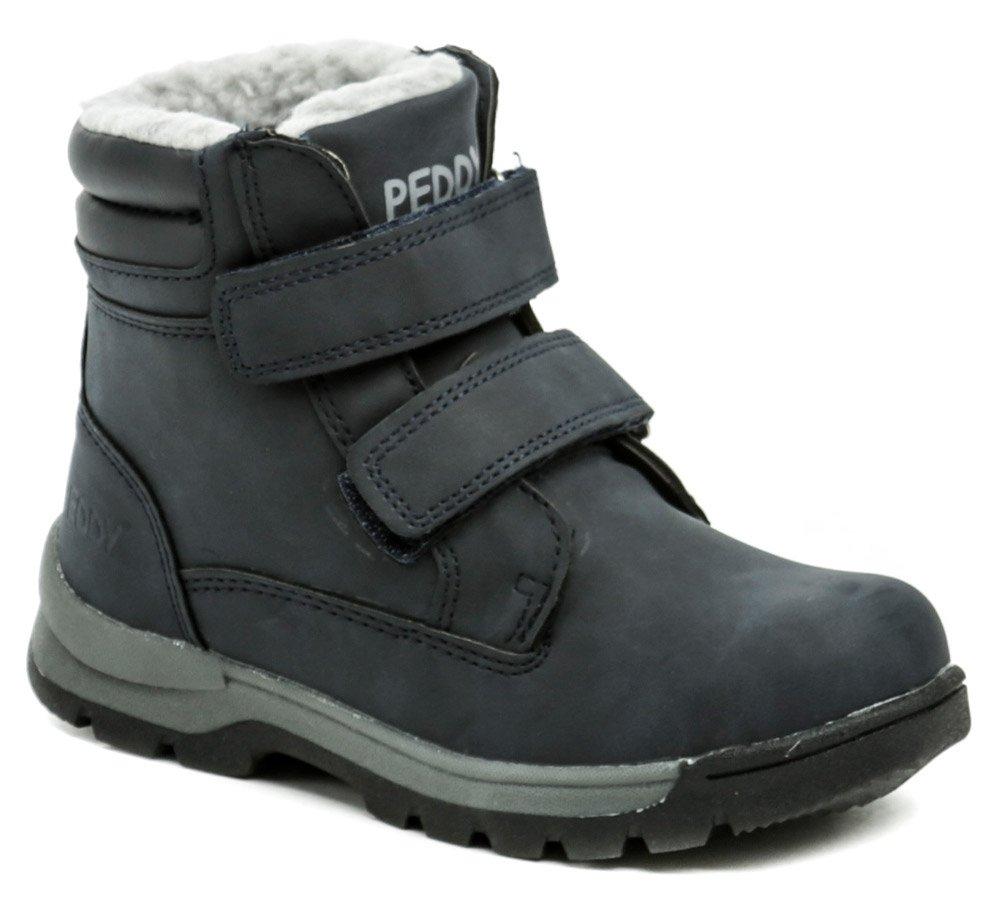 d11447eafd1 Peddy P1-536-37-05 modré dětské zimní boty