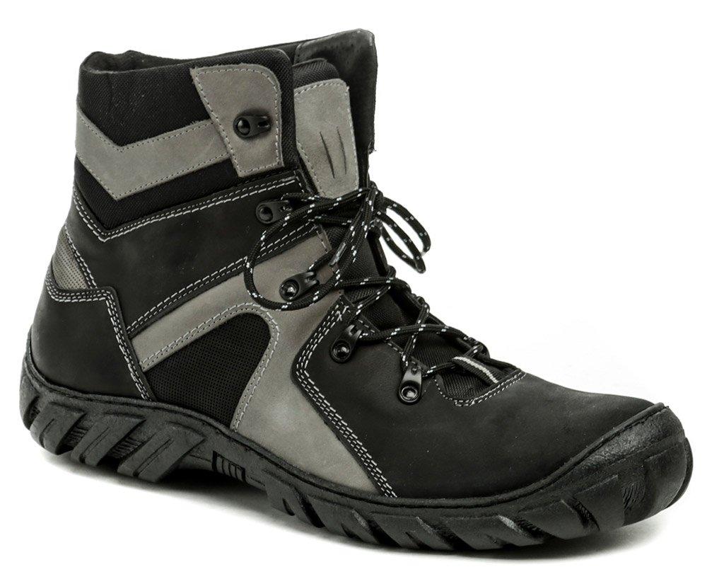 Koma 1052 černo-šedé pánské nadměrné boty EUR 48