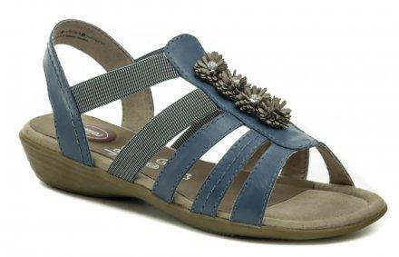 Jana 8-28120-22 modré dámské nadměrné sandály d9dcdec573