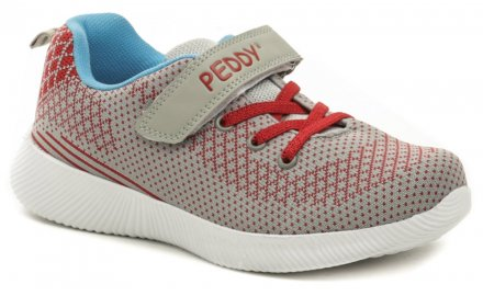 fbd3f344c498f Peddy PO-507-22-05 šedo červené dětské tenisky