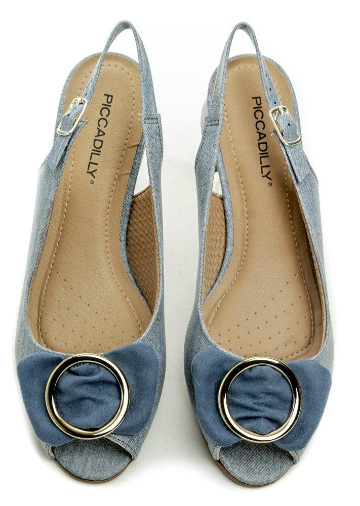 f9339d096 Piccadilly 114011 modré dámské sandály na podpatku | ARNO.cz