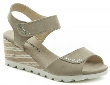 e6f8385c07b9 Sprox 469003 béžové dámské sandály na klínu