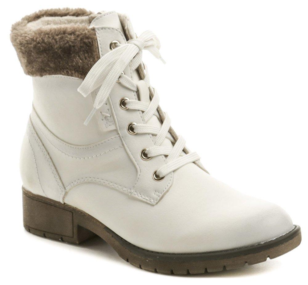 Jana 8-25262-23 bílé dámské zimní boty šíře H EUR 38