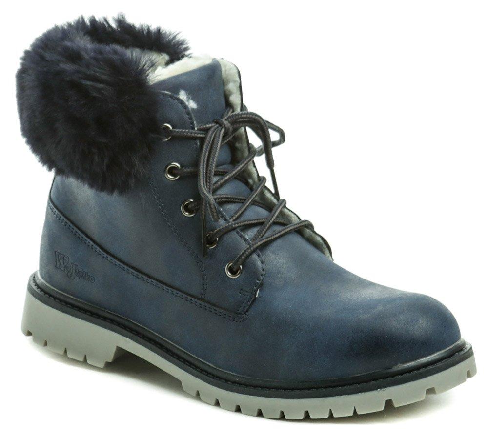 Wojtylko 5z9079 modré dívčí zimní boty EUR 33