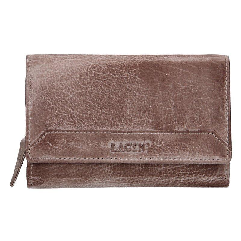 Lagen dámska peňaženka kožená LG-11 / D - béžová - TAUPE
