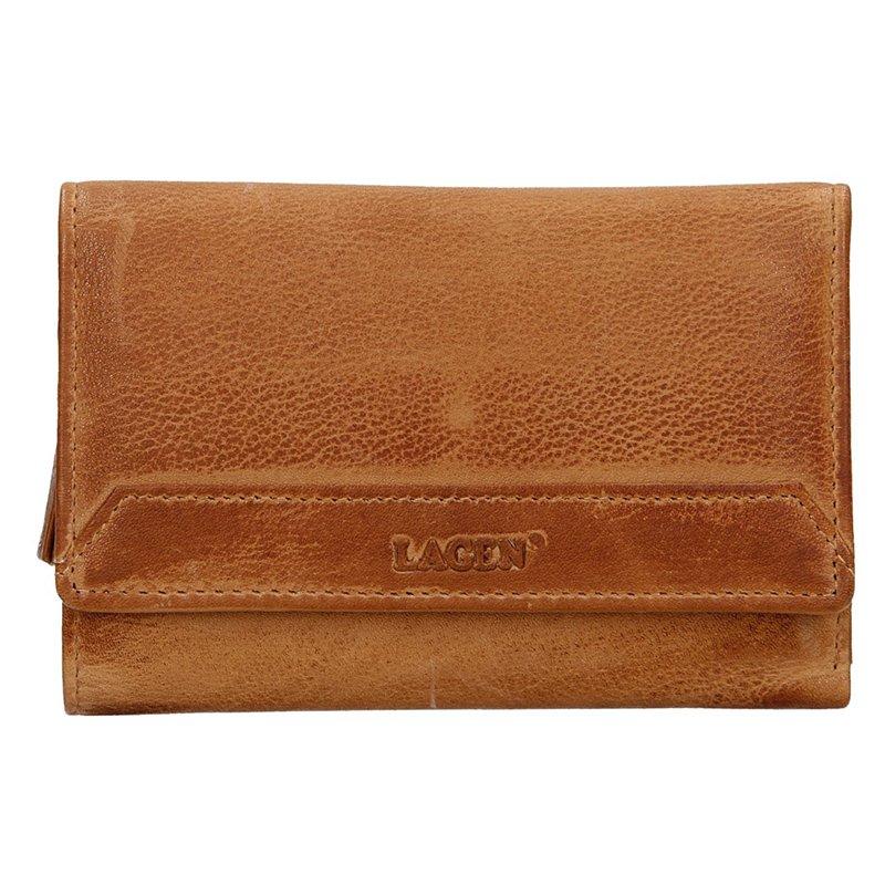 Lagen dámska peňaženka kožená LG-11 / D - hnedá - CARAMEL