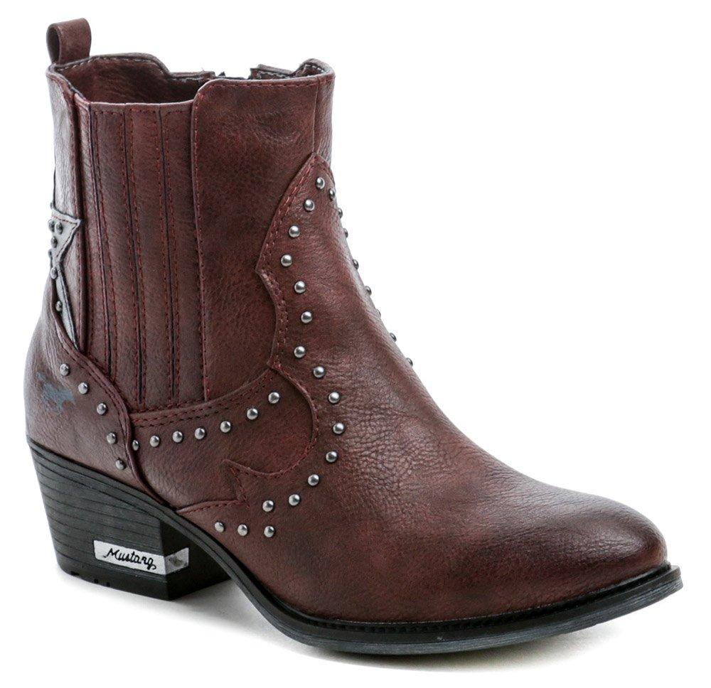 Mustang 1346-502-55 bordó dámské zimní boty EUR 36