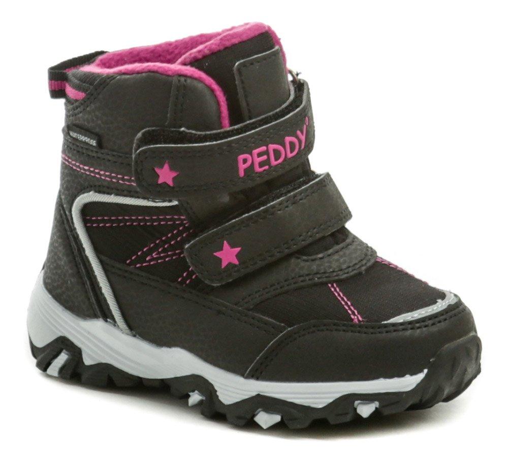 Peddy P3-631-35-10 černo růžové dětské zimní boty EUR 25