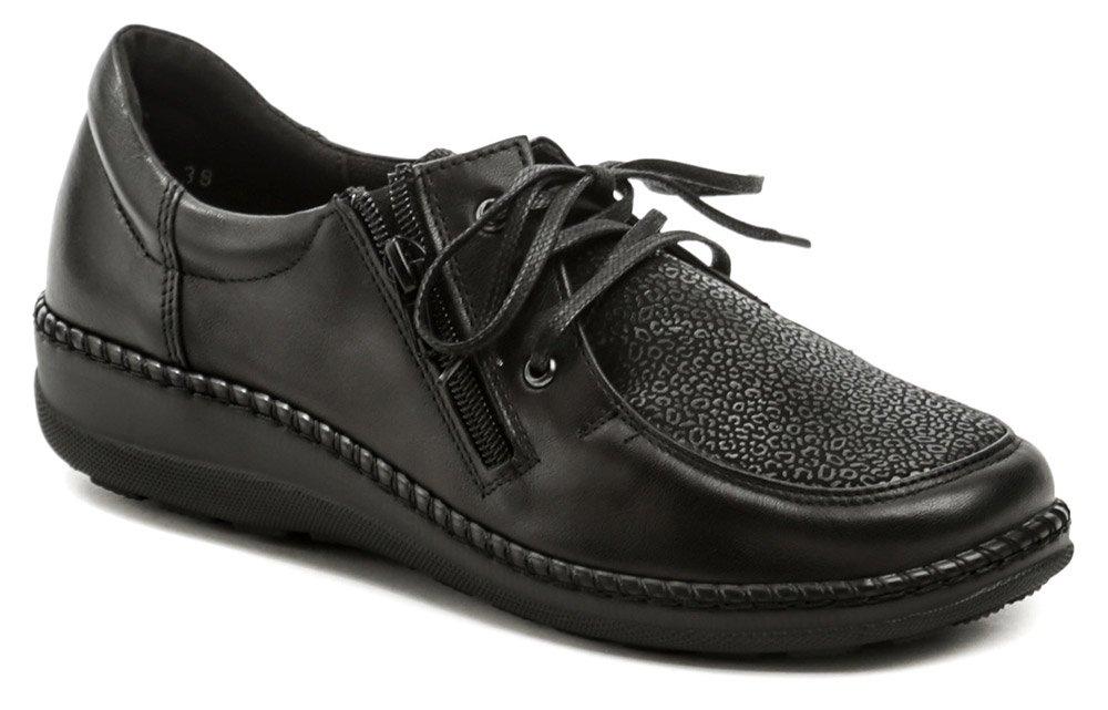 Axel AXCW129 černé dámské zdravotní polobotky boty šíře H EUR 37