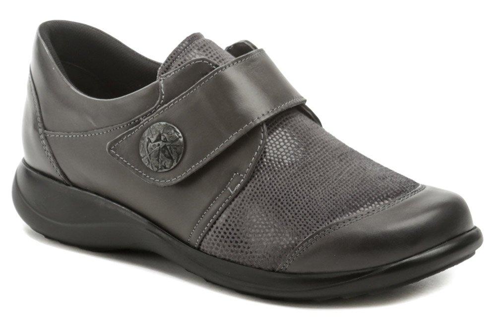 Axel AXCW128 šedé dámské polobotky boty šíře H EUR 37