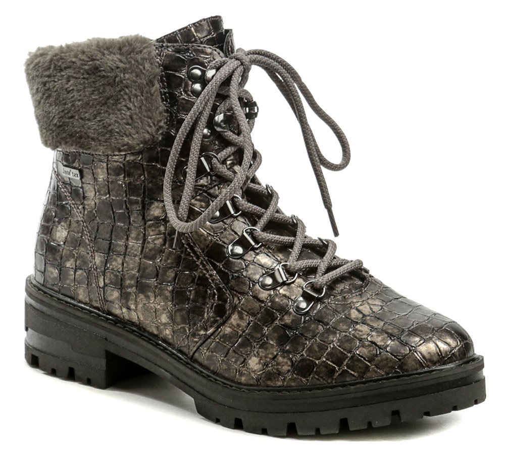 Jana 8-26220-25 bronz croco dámské zimní boty šíře H EUR 43