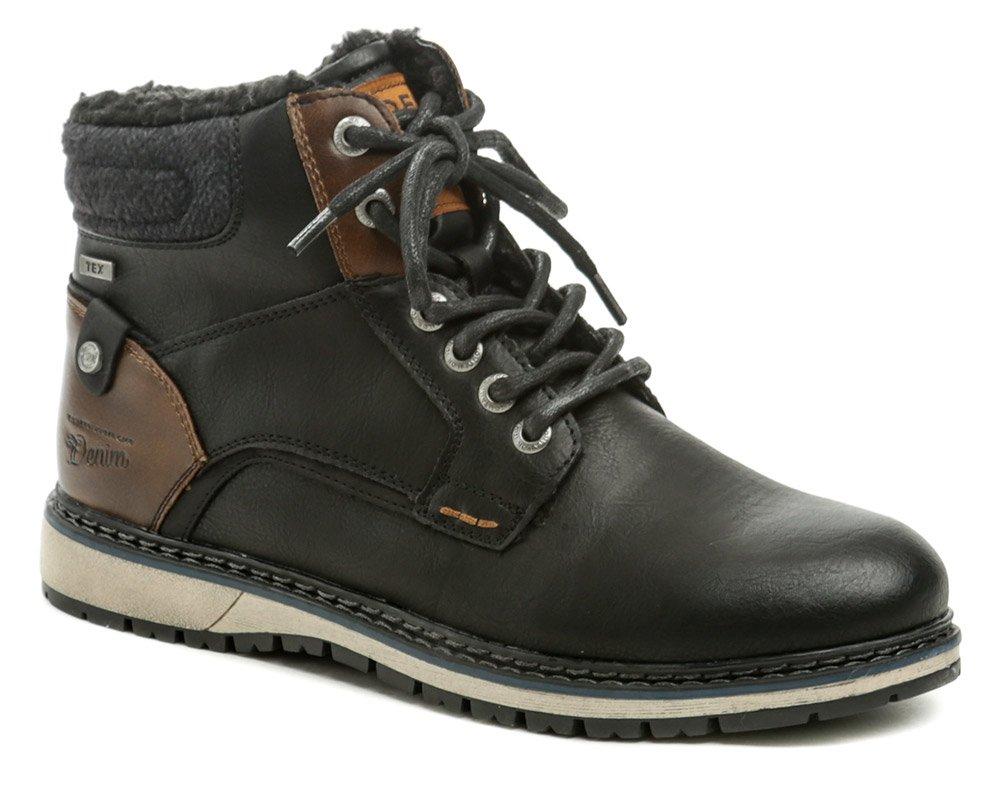 Tom Tailor 9085302 černé pánské zimní boty EUR 43