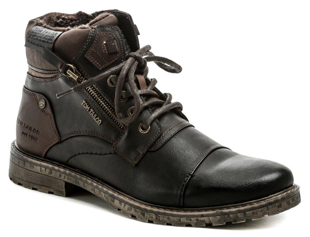 Tom Tailor 9082302 černo hnědé pánské zimní boty EUR 41