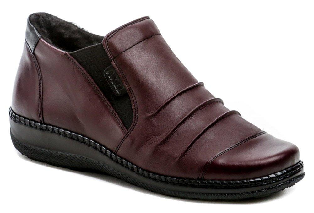 Axel AX1735 bordó dámské zimní boty šíře H EUR 37